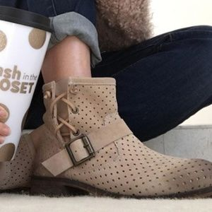 NEW Jeffrey Campbell Perforated Lug Sole Booties